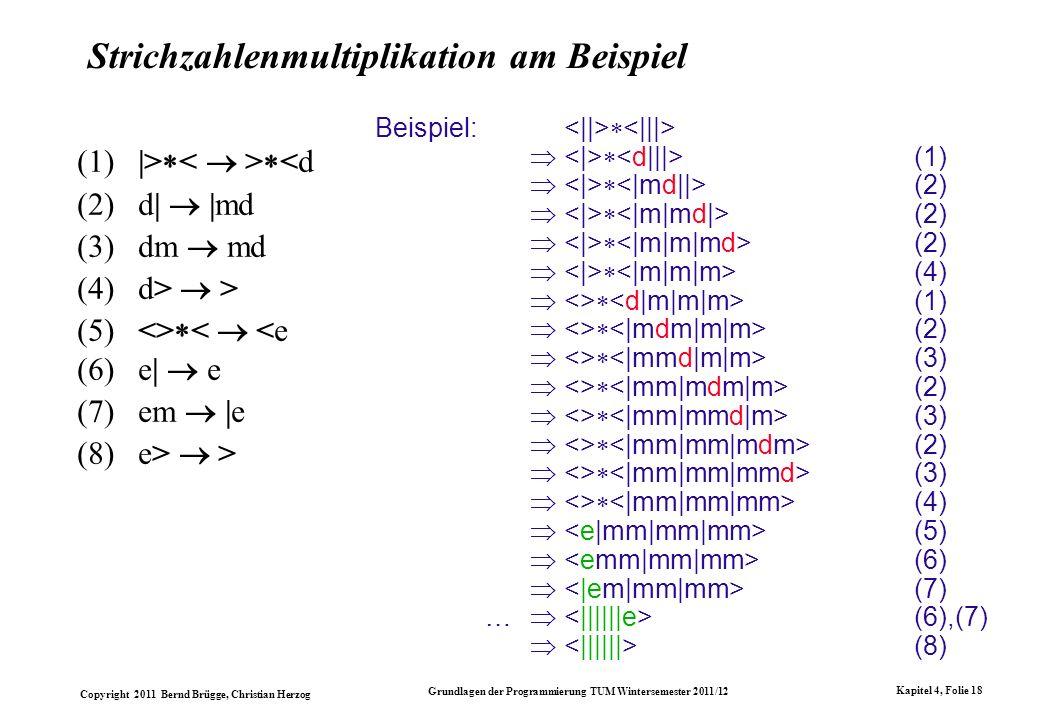 Strichzahlenmultiplikation am Beispiel