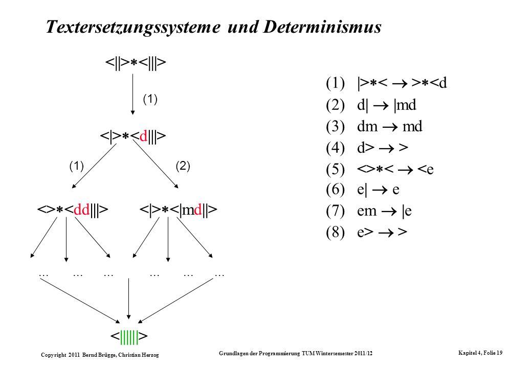 Textersetzungssysteme und Determinismus