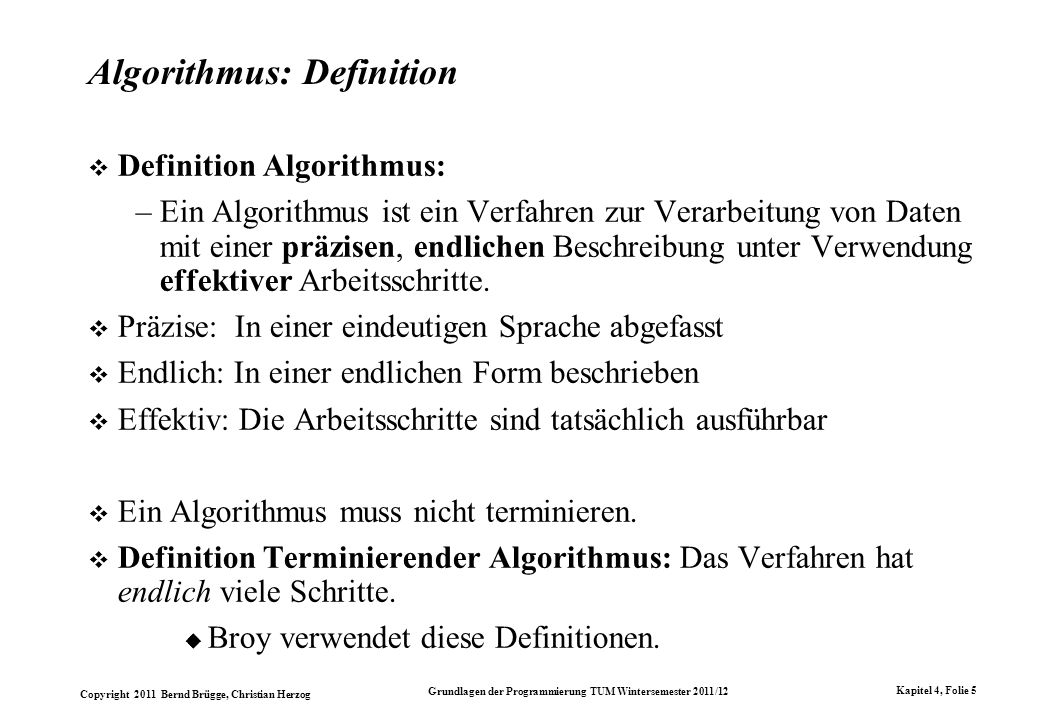 Algorithmus: Definition