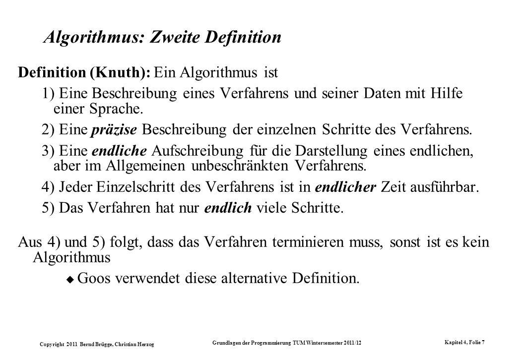 Algorithmus: Zweite Definition