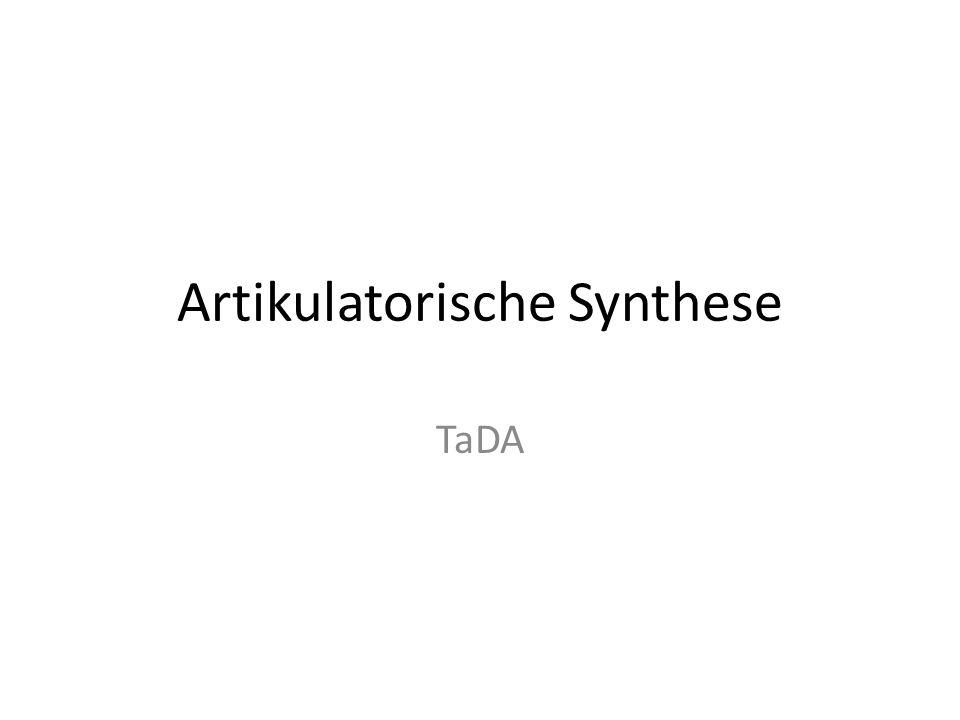 Artikulatorische Synthese