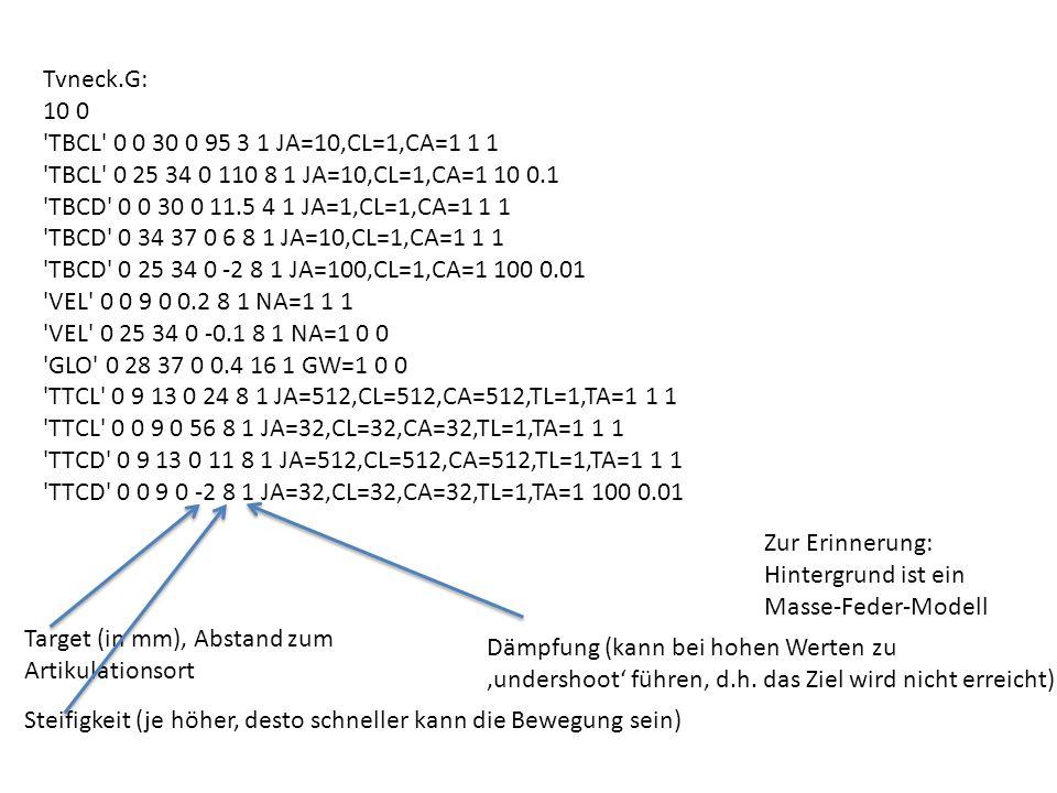 Tvneck.G: 10 0. TBCL 0 0 30 0 95 3 1 JA=10,CL=1,CA=1 1 1. TBCL 0 25 34 0 110 8 1 JA=10,CL=1,CA=1 10 0.1.