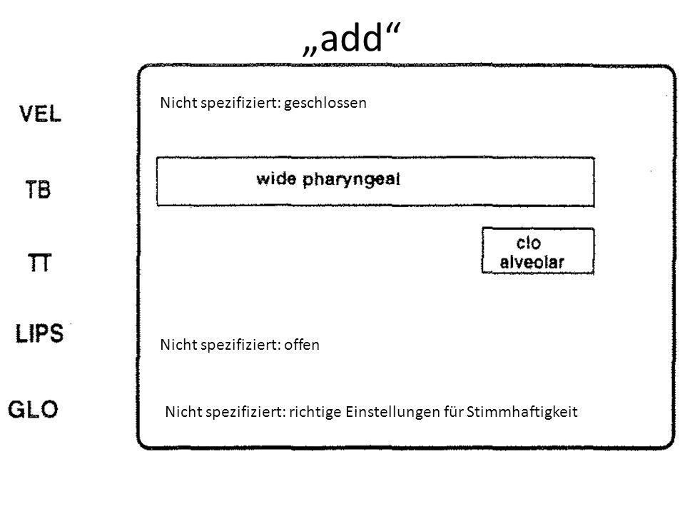 """""""add Nicht spezifiziert: geschlossen Nicht spezifiziert: offen"""