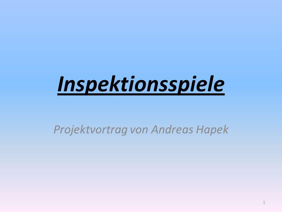Projektvortrag von Andreas Hapek