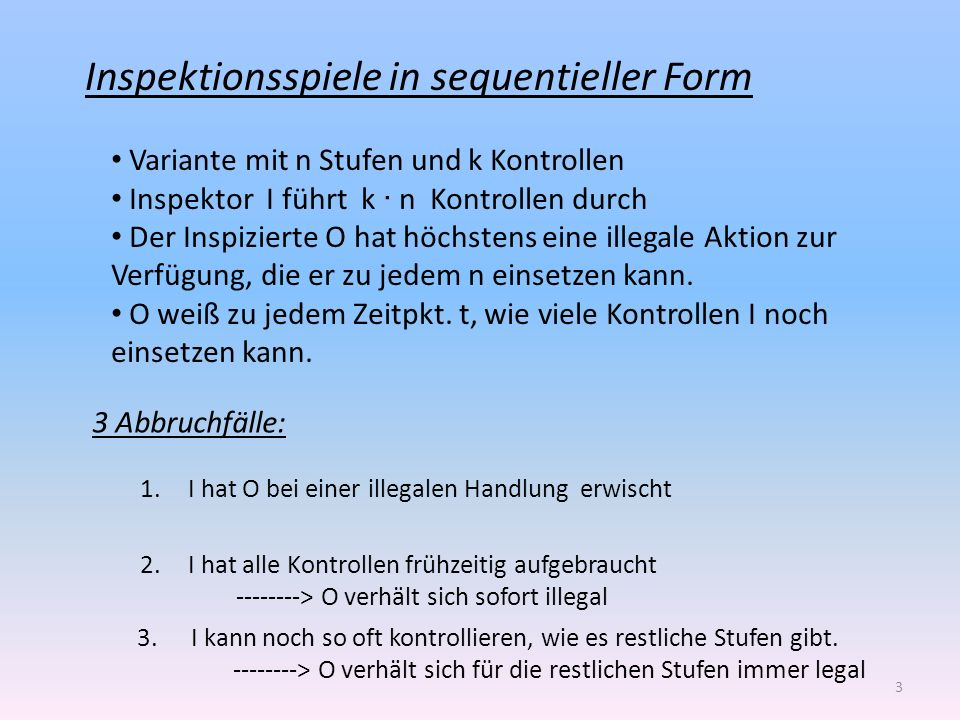 Inspektionsspiele in sequentieller Form