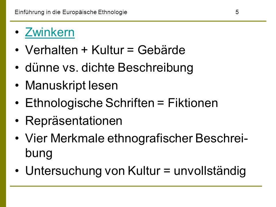 Einführung in die Europäische Ethnologie 5