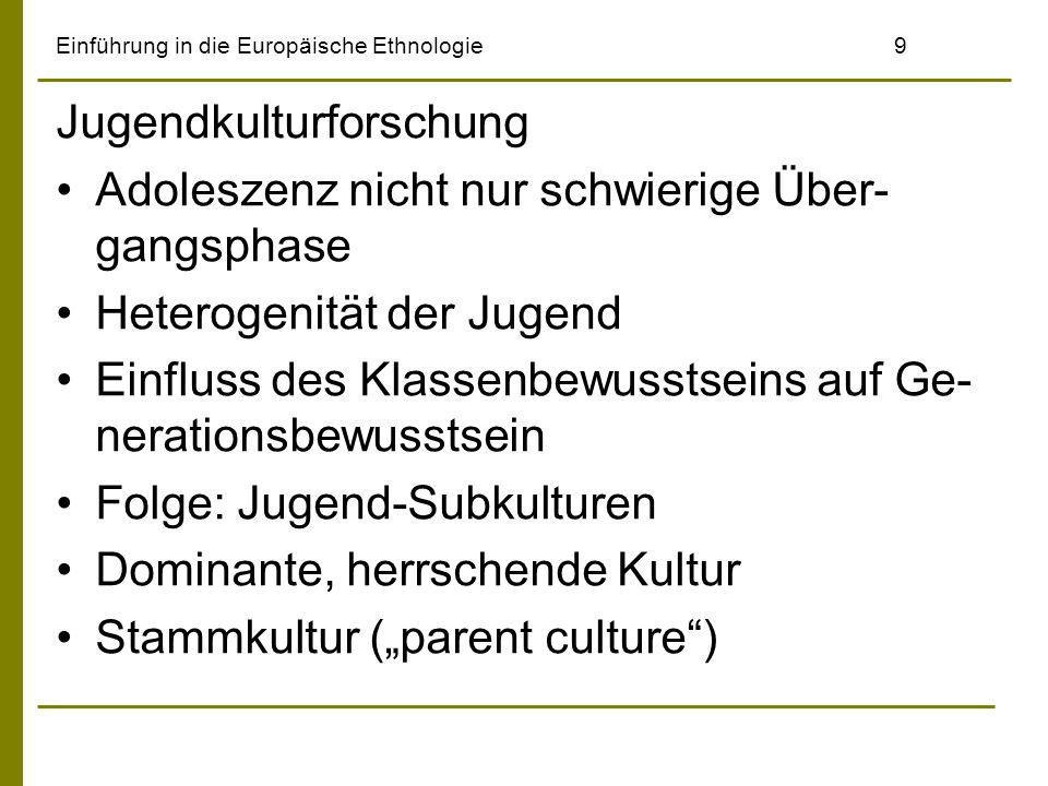 Einführung in die Europäische Ethnologie 9