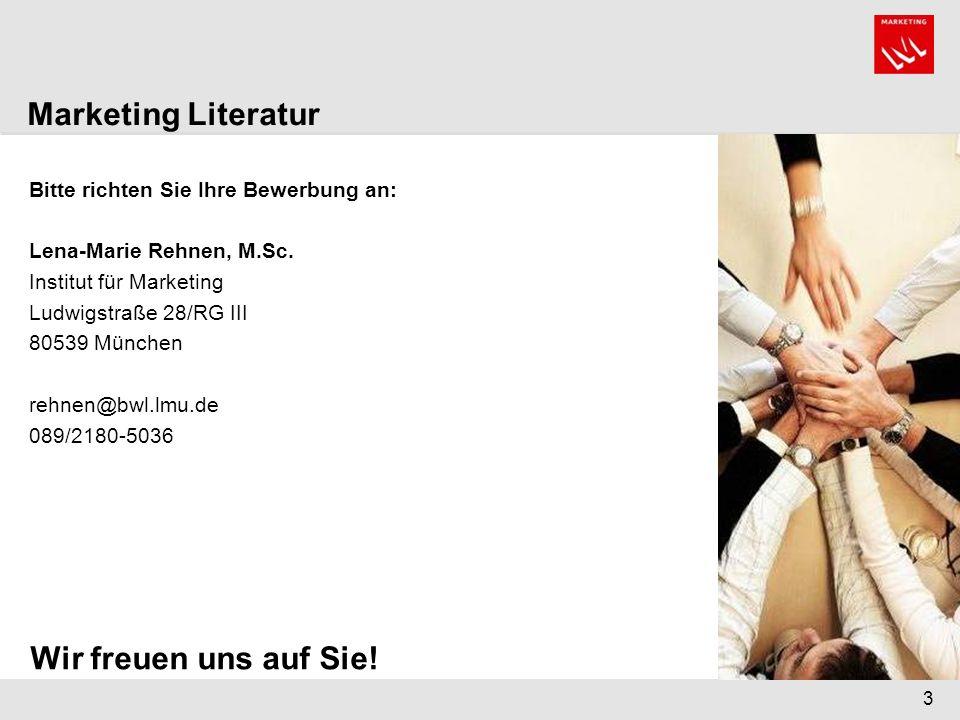 Marketing Literatur Wir freuen uns auf Sie!