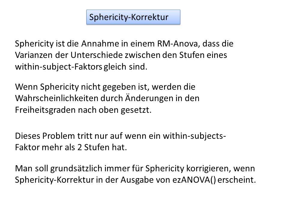 Sphericity-Korrektur