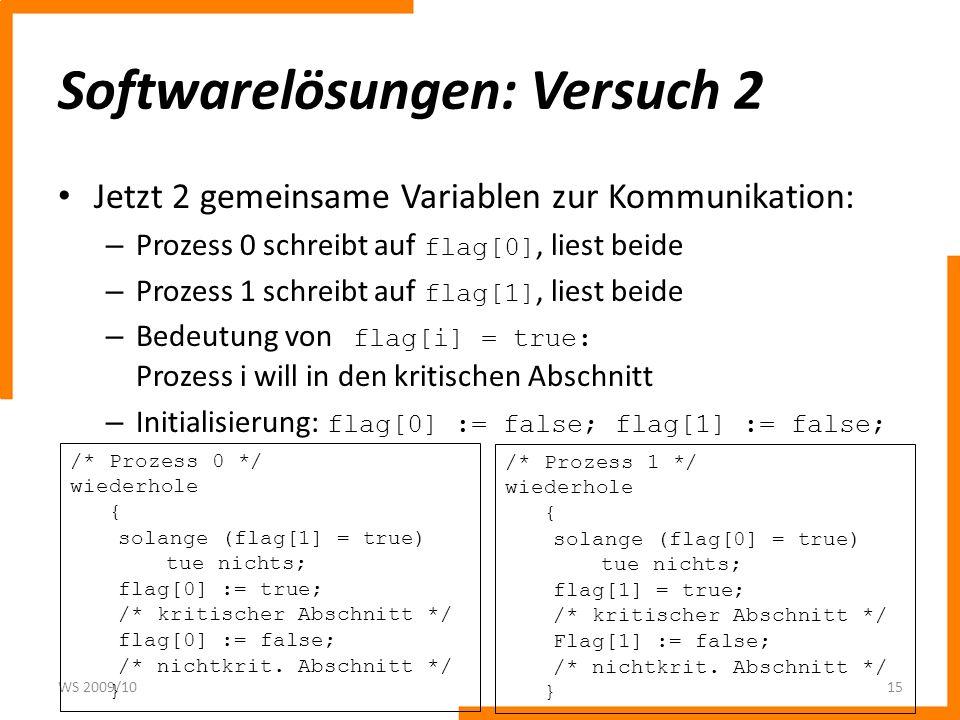 Softwarelösungen: Versuch 2