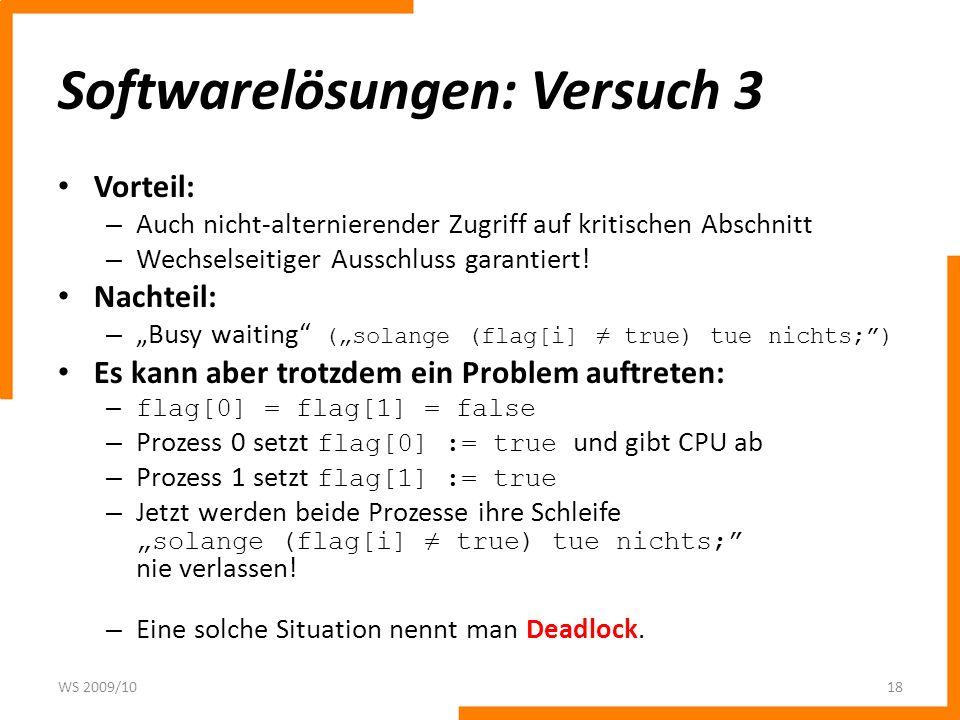 Softwarelösungen: Versuch 3