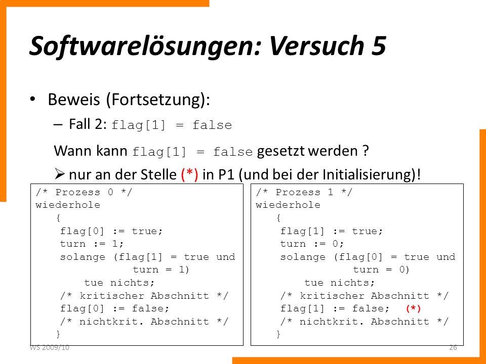 Softwarelösungen: Versuch 5