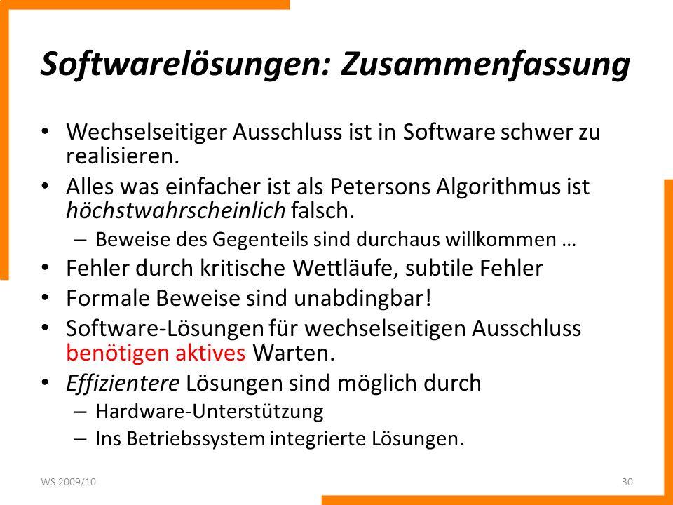 Softwarelösungen: Zusammenfassung