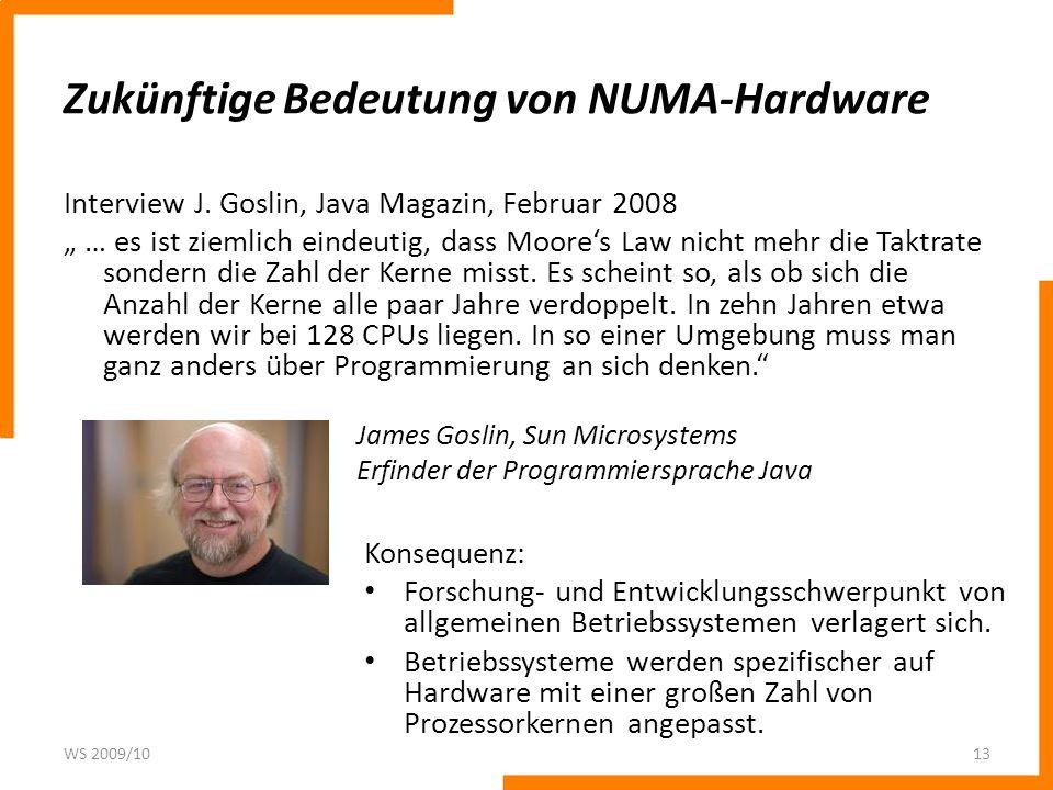 Zukünftige Bedeutung von NUMA-Hardware