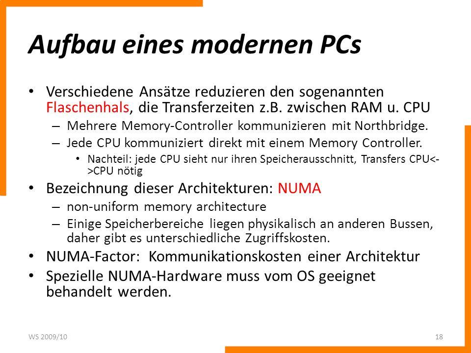 Aufbau eines modernen PCs