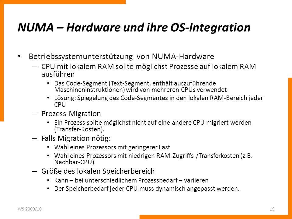 NUMA – Hardware und ihre OS-Integration