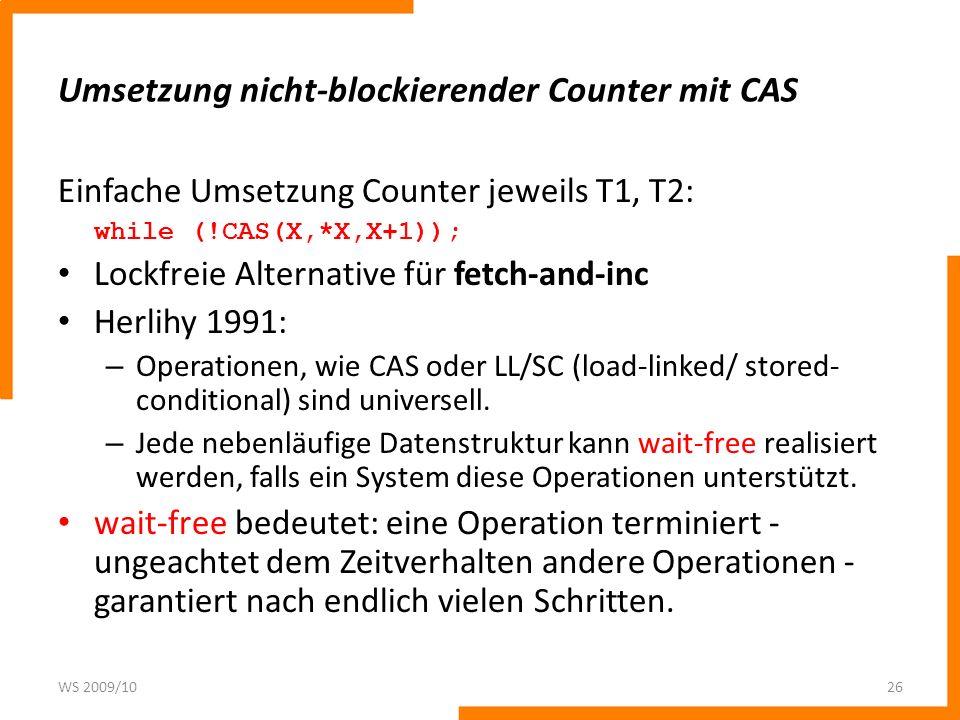 Umsetzung nicht-blockierender Counter mit CAS