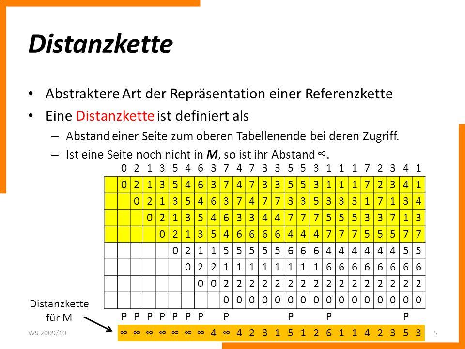 Distanzkette Abstraktere Art der Repräsentation einer Referenzkette
