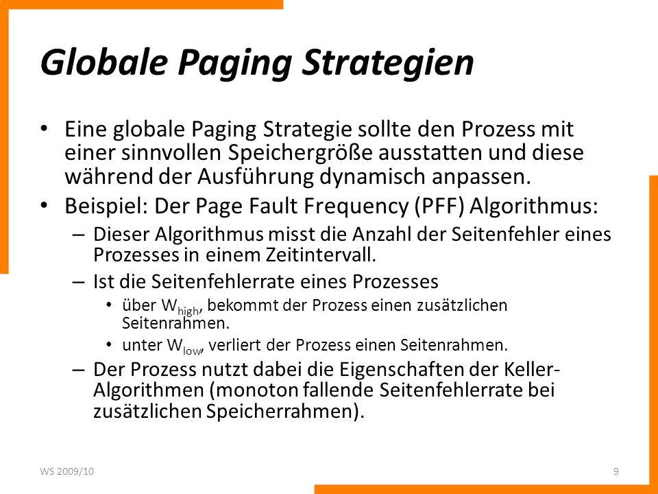 Globale Paging Strategien