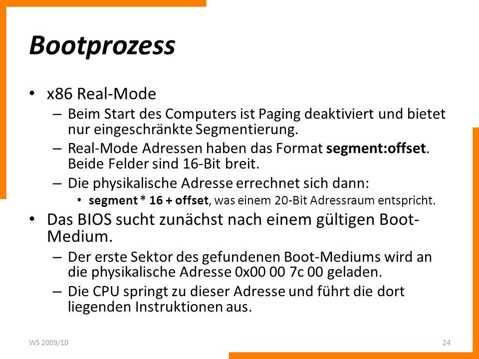 Bootprozess x86 Real-Mode