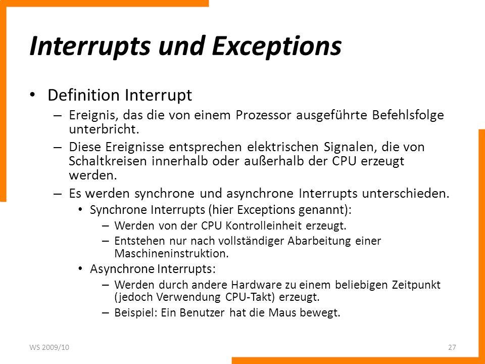 Interrupts und Exceptions