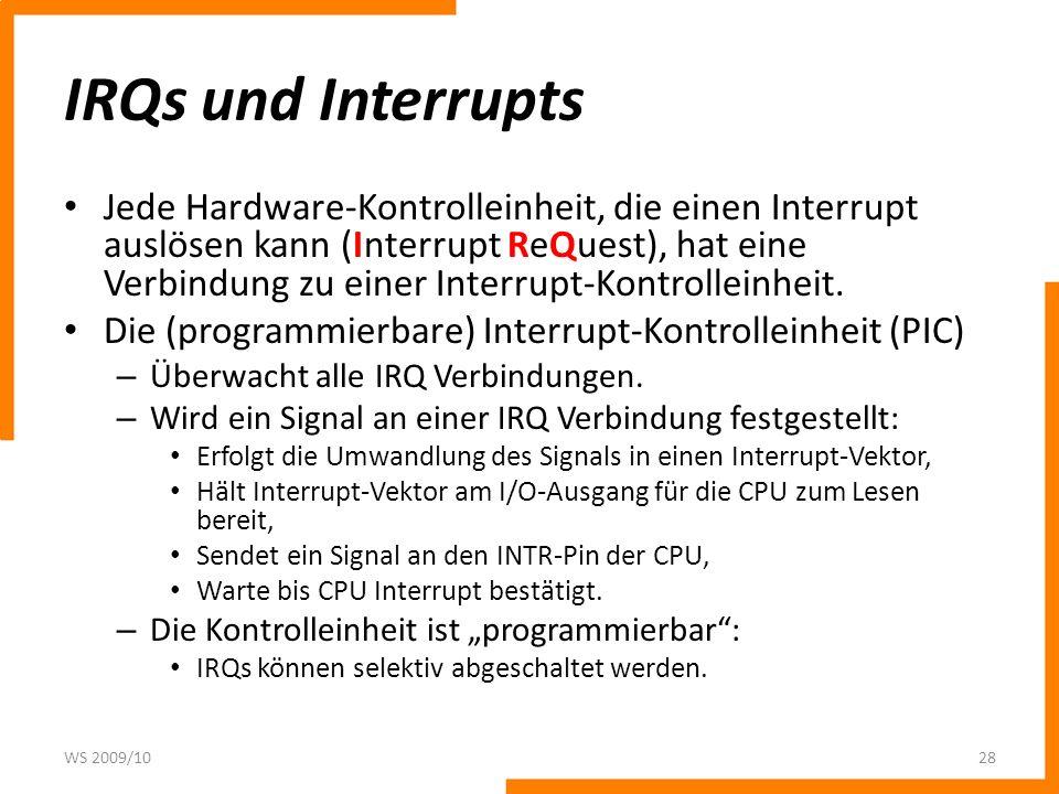 IRQs und Interrupts