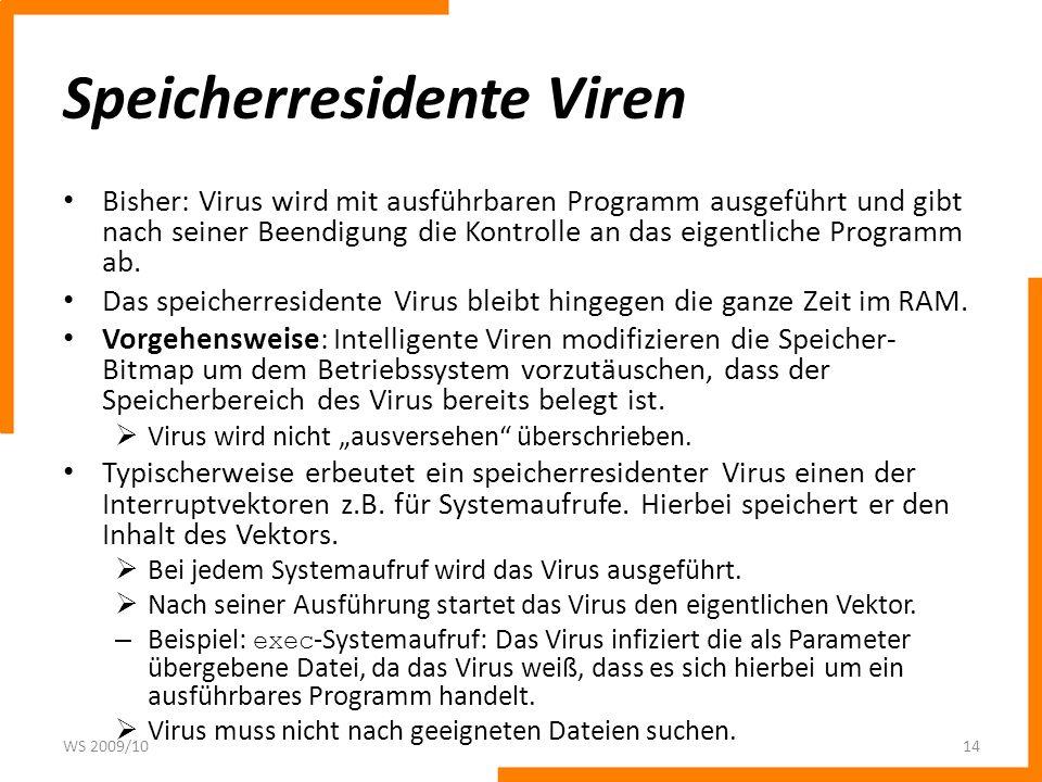 Speicherresidente Viren