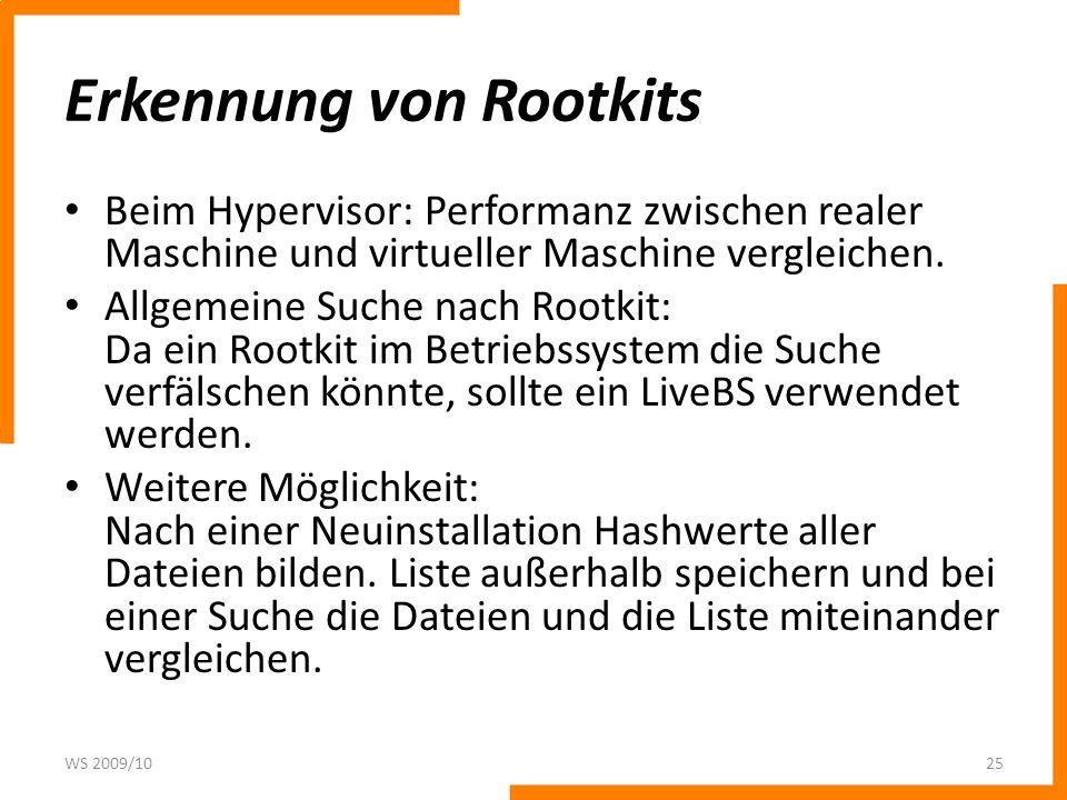 Erkennung von Rootkits