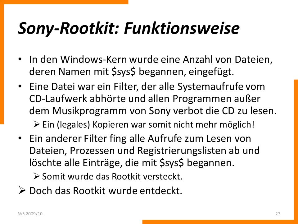 Sony-Rootkit: Funktionsweise