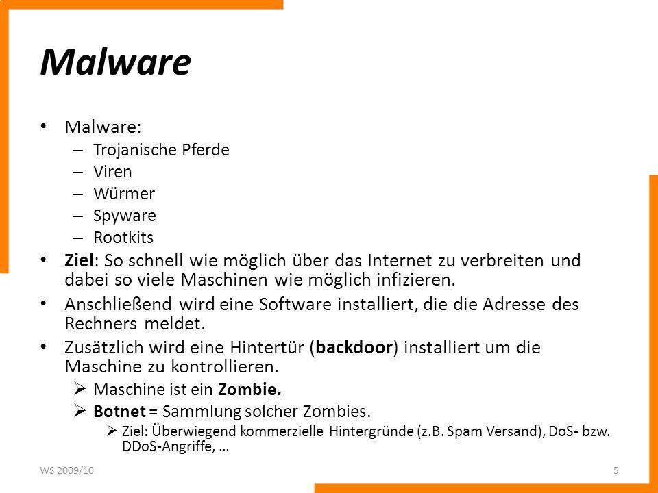 Malware Malware: Trojanische Pferde. Viren. Würmer. Spyware. Rootkits.