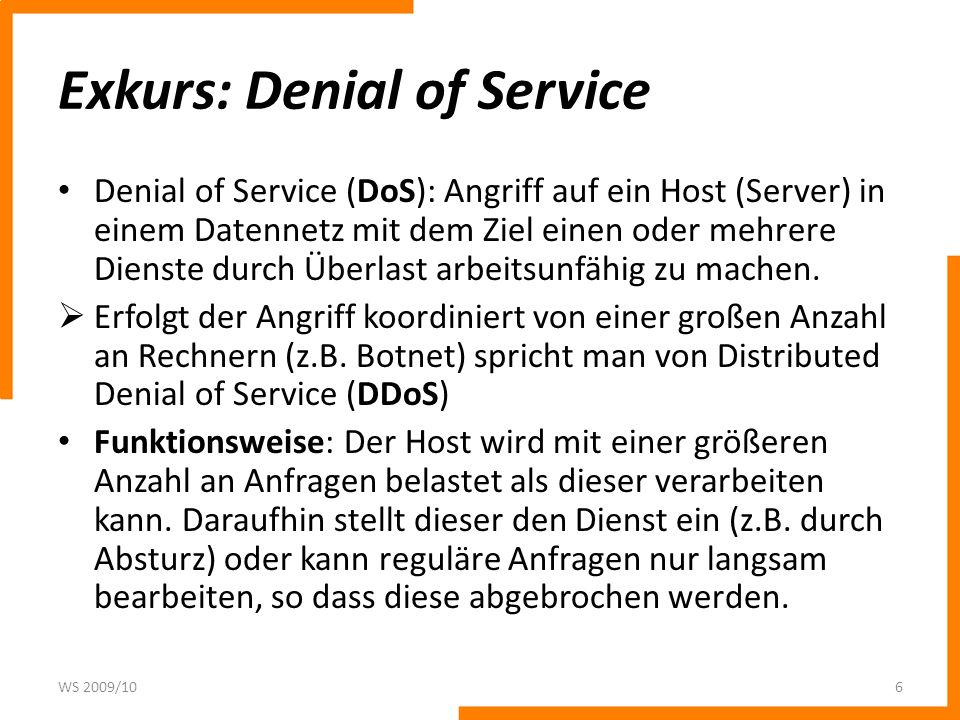 Exkurs: Denial of Service