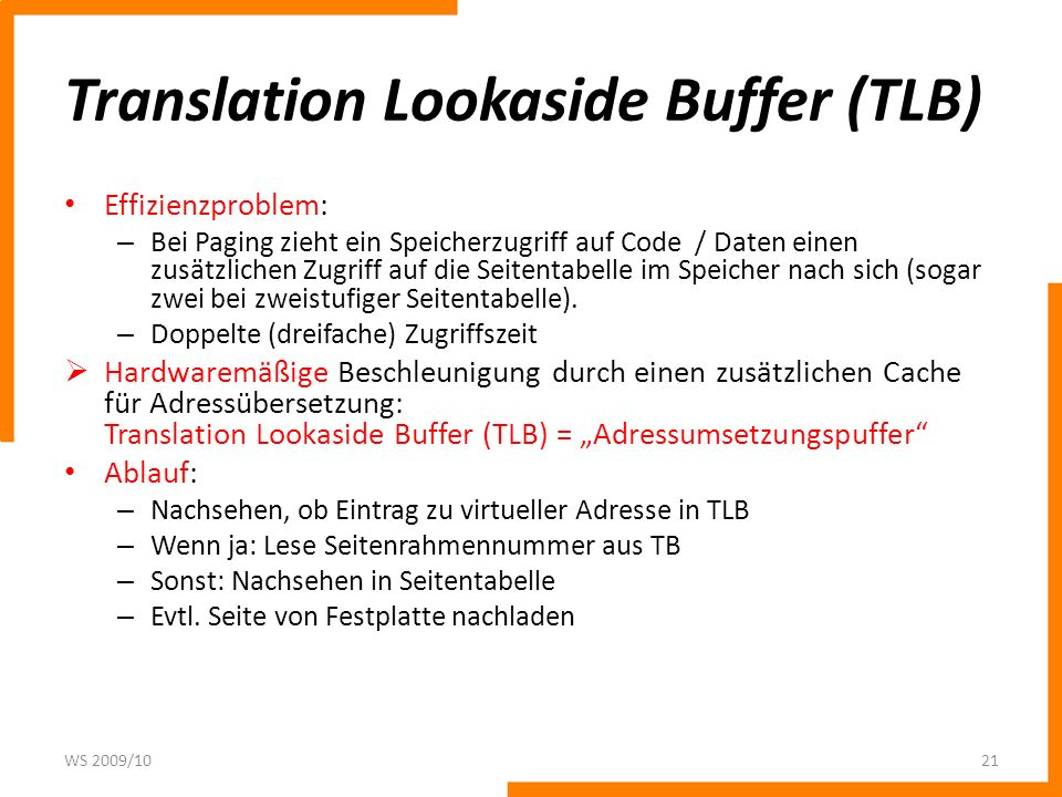 Translation Lookaside Buffer (TLB)