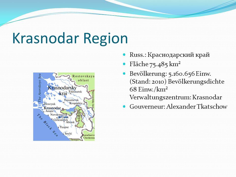 Krasnodar Region Russ.: Краснодарский край Fläche 75.485 km²