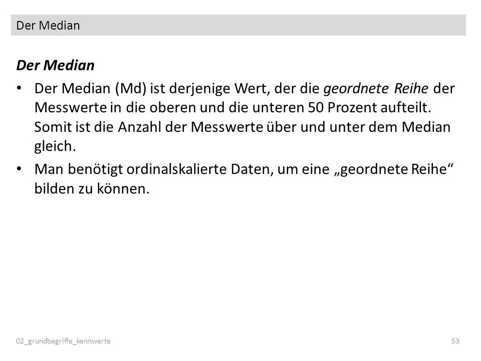 Der Median Der Median.