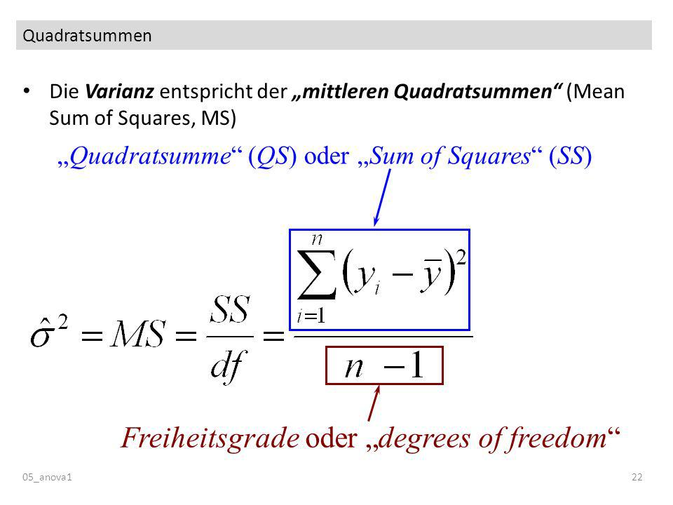 "Freiheitsgrade oder ""degrees of freedom"