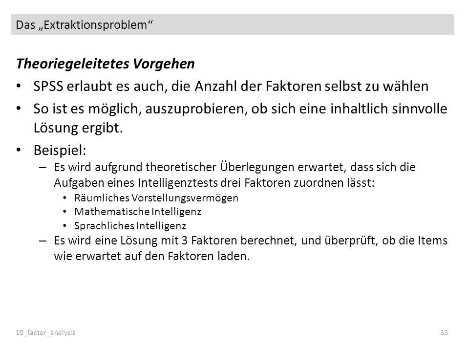 "Das ""Extraktionsproblem"