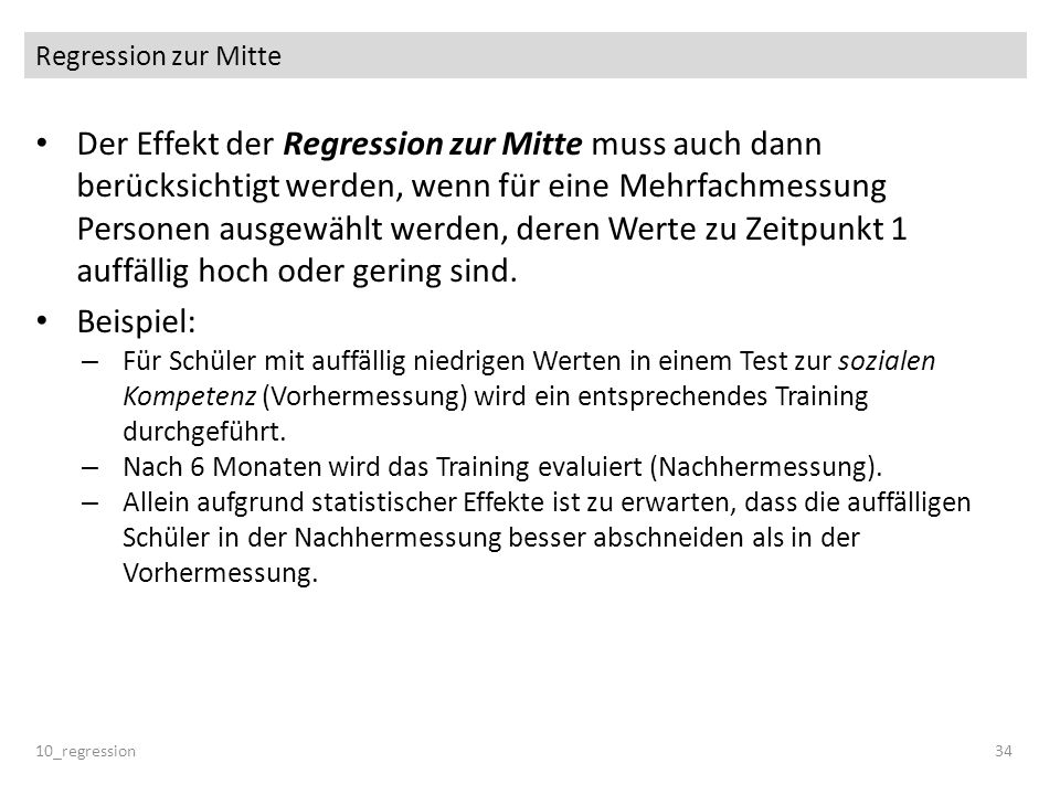 Regression zur Mitte