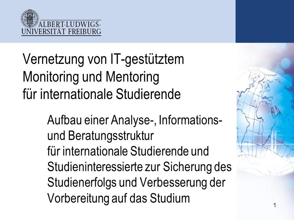 Vernetzung von IT-gestütztem Monitoring und Mentoring für internationale Studierende