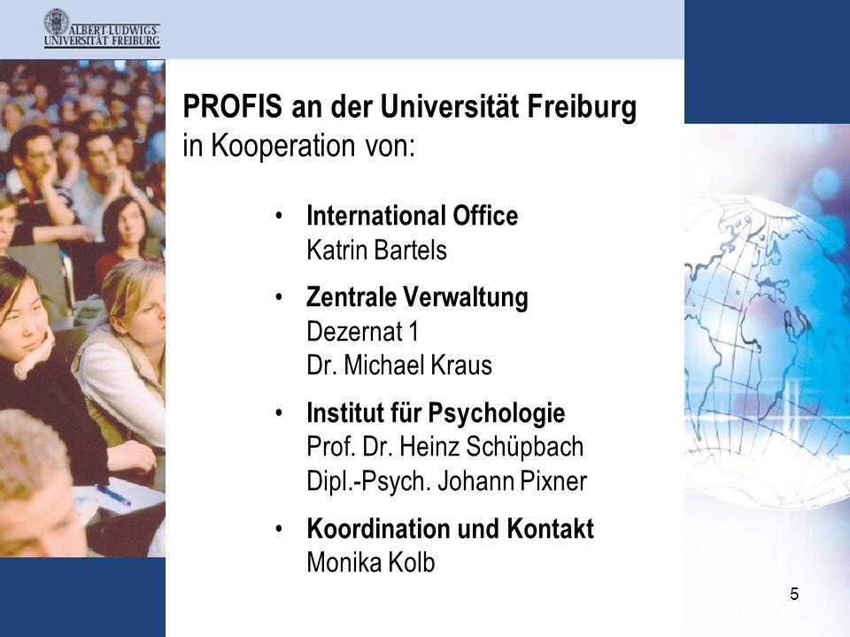 PROFIS an der Universität Freiburg in Kooperation von: