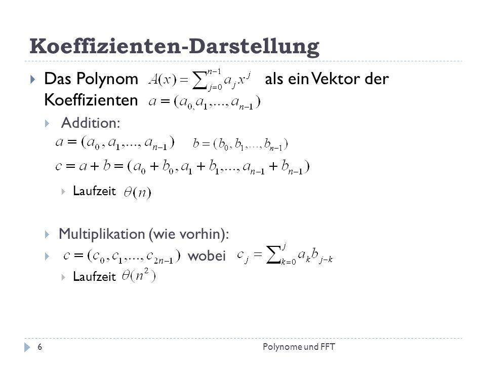 Koeffizienten-Darstellung