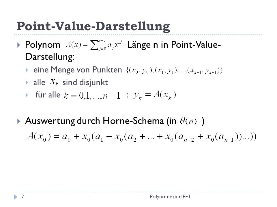 Point-Value-Darstellung
