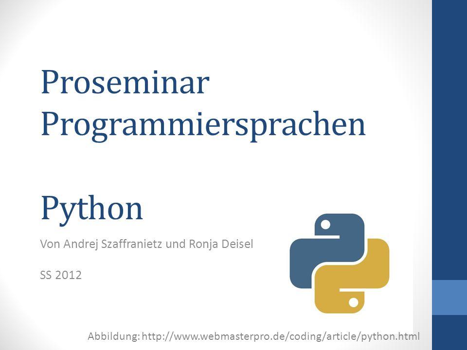 Proseminar Programmiersprachen Python