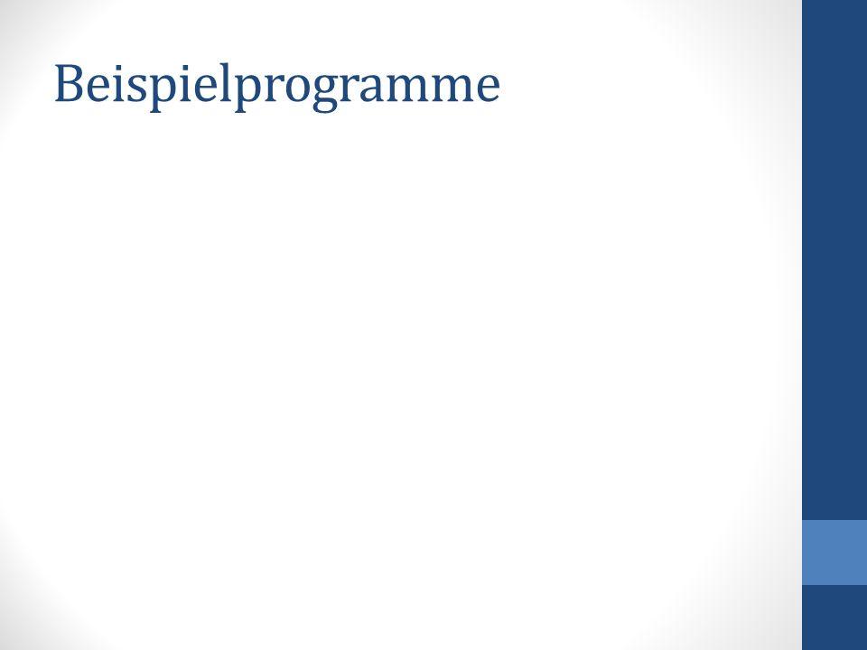 Beispielprogramme
