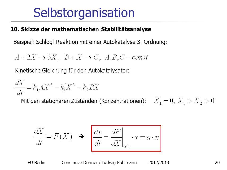 FU Berlin Constanze Donner / Ludwig Pohlmann 2012/2013