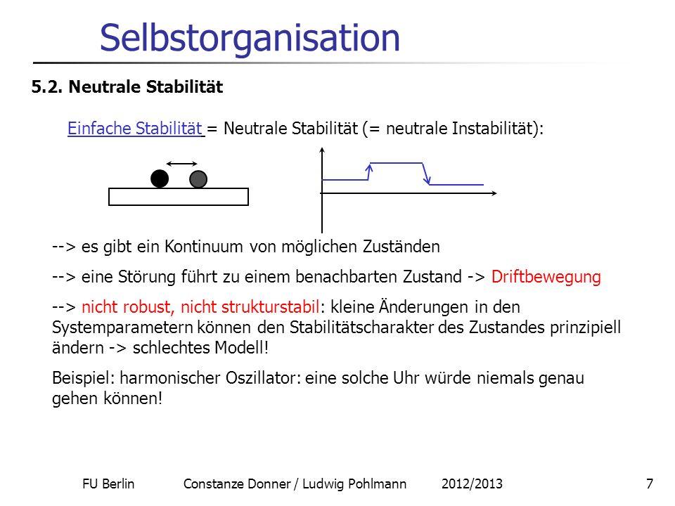 Selbstorganisation 5.2. Neutrale Stabilität