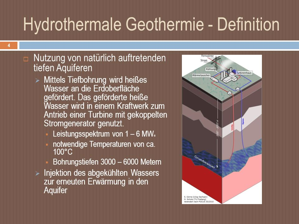 Hydrothermale Geothermie - Definition