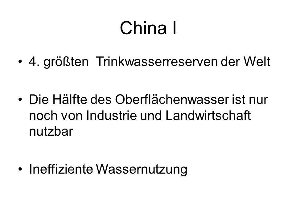 China I 4. größten Trinkwasserreserven der Welt