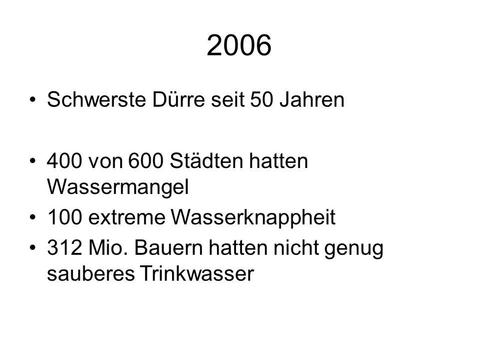 2006 Schwerste Dürre seit 50 Jahren