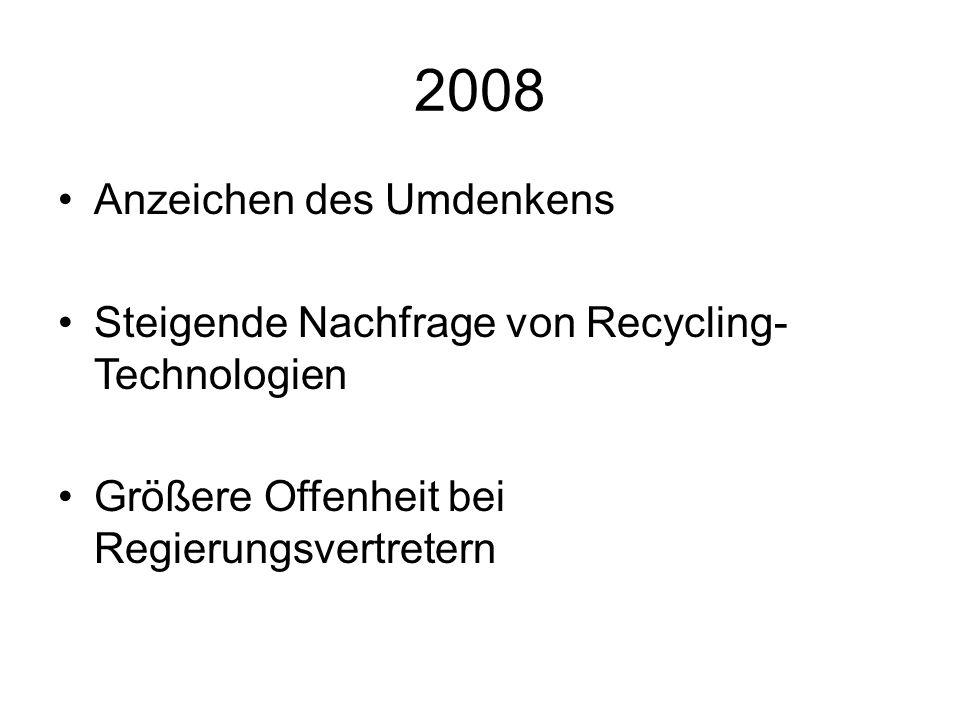 2008 Anzeichen des Umdenkens