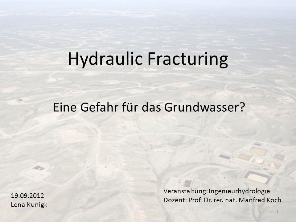 Eine Gefahr für das Grundwasser